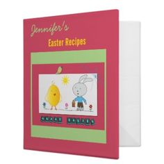 A Cheerful Easter, Cute Chicken and Bunny, Binder  http://www.zazzle.com/a_cheerful_easter_cute_chicken_and_bunny_binder-127529258828590922?gl=imagesArt_hack=fvbv=238401569603459289