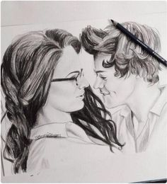 "∞ One Direction [1D] → Best Song Ever's ""Veronica"" (aka Zayn Malik) and Harry Styles Illustration by Unknown Artist"