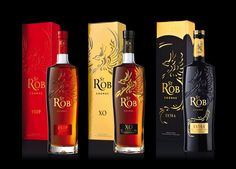 Cognac St Rob VSOP, XO, EXTRA (chabasse). Packaging design by #Linea