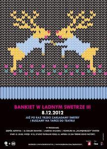 plakat Bankiet w ładnym swetrze III