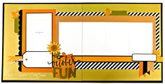 """September Scrapbook Layout Kit of the Month using CTMH Cats & Bats papers is titled """"October Fun"""". Create this fall layout by purchasing my kit or my guide."""