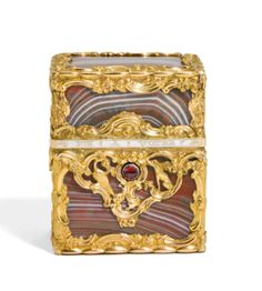 A gold-mounted red agate necessaire, London, circa 1760 | Lot | Sotheby's