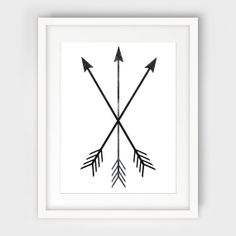 Arrow Print Black and White Tribal Crossed by MelindaWoodDesigns, $5.00