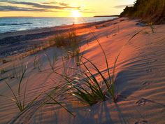 A Michigan sunrise at Whitefish Point - Upper Peninsula. Photo by Kristian Saile