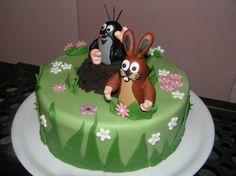 Krtek Funny Cake, Fondant, Birthday Cake, Kids, Food, Easter Activities, Food And Drinks, Kuchen, Young Children