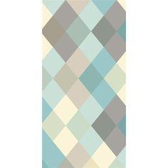 Papier peint intissé losange, de la marque Lé PAPIERS DE NINON Lé de papier peint unique . Créations exclusives renouvelées tous les 6 mois . Papier peint intissé 150g , - fabrication entièrement f
