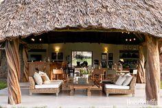 Suzanne Kasler Interiors Kenya House - Open Air House in Kenya - House Beautiful