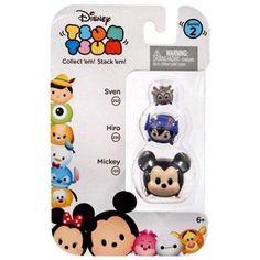 Disney Tsum Tsum Series 2 Sven, Hiro & Mickey Minifigure 3-Pack