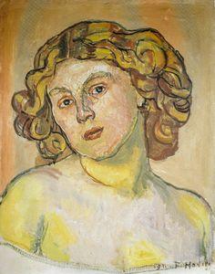 Ferdinand Folder - Portrait of Regina Morgeron, 1911 (Kunstmuseum Basel Switzerland) at Gauguin-to-Picasso Exhibit - Philllips Collection Washington DC (Exhibit Catalog Book)