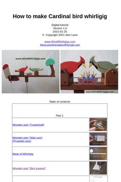Funny Weather, Table Of Contents, Cardinal Birds, Make Your Own, How To Make, Teaching Materials, Real Wood, Hand Tools