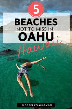 There is a lot more to Oahu than Waikiki! Here are 5 amazing beaches to get out an explore on a drive around the Hawaii island of Oahu. Swim with turtles, snorkel, surf the winter waves, camp overnight, or just enjoy the sun.  #Hawaii #Oahu #islandbeaches #Hawaiibeaches #travel #bestbeaches @bloggeratlarge
