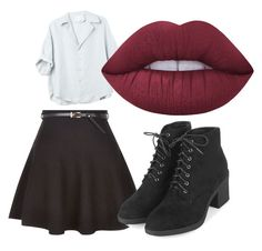 """""""nixila"""" by oliviasjstad on Polyvore featuring New Look, Topshop and Lime Crime"""