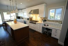 Two Island Kitchen Home Design #remodeling Fountain Valley white #cabinets