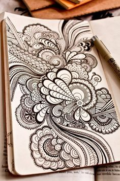 I love zentangles. I thought this was really spunky