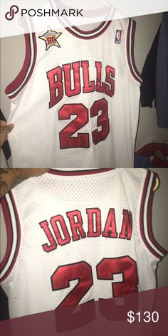 NBA ALL STAR JERSEY White and red NBA all star Jordan 23 jersey size  M ea91c685f