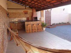 Resultado de imagem para Area gourmet externas Door Design, Exterior Design, House Design, Outdoor Spaces, Outdoor Living, Outdoor Decor, Pergola, Patio Bar, Home Decor Furniture
