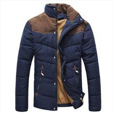 Men's Winter Warm Thermal Wadded Jacket Cotton-padded coat Winter Slim MWM169
