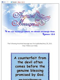 Check out this Anointed Message about counterfeits