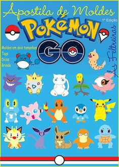 50% OFF PDF Pattern Mold Felt Kit Pokemon GO by AsFeltreiras