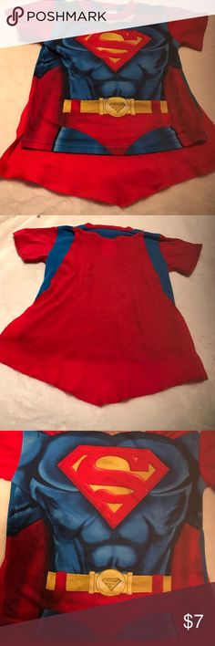He's your super man Cute superman too with attached Velcro cape. Shirts & Tops Tees - Short Sleeve