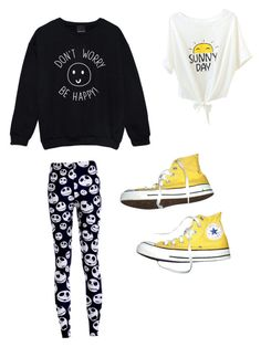 """Happy!"" by smilelykristenjoy on Polyvore featuring Converse"