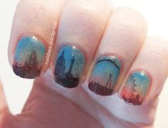 These would make pretty sherlock nails. Who am I kidding this is near impossible for me. Beautiful Nail Designs, Cute Nail Designs, Sherlock Nails, Divergent Tattoo, Kids Fashion Show, Boy Fashion, London Nails, Nails For Kids, Nail Polish Art