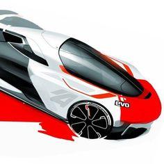 An older render of the VO #vehicledesign #evomagazine #carsketch #sketch…