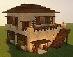 Minecraft Bauwerke, Minecraft Desert House, Minecraft House Plans, Minecraft Cottage, Minecraft Mansion, Cute Minecraft Houses, Minecraft House Tutorials, Minecraft Creations, Minecraft House Designs