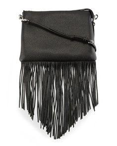 4c92595974dc Shop Jon Leather Fringe Crossbody Bag