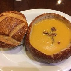Boudin bakery butternut squash soup in bread bowl, so good 7/11/2014