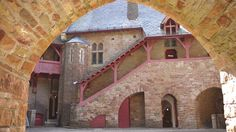 The courtyard of Castell Coch, Tongwynlais, Cardiff, Wales