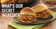 What do we use to add big flavour to our BBQ Chicken Sliders? You may be surprised. Chicken Sliders, Bbq Chicken, Rotisserie Chicken, Roast Gravy, Slider Buns, Deviled Eggs, Coleslaw, Pulled Pork, Cooking Recipes