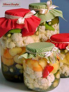 Kapros vegyes savanyúság Kimchi, Preserves, Potato Salad, Healthy Living, Paleo, Food And Drink, Favorite Recipes, Meals, Table Decorations