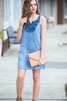 Denim dress #swoonboutique