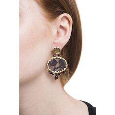 Earrings Brocart Black