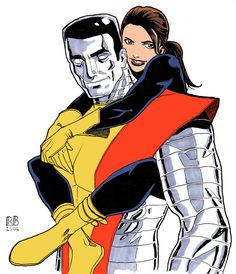 Colossus and Shadowcat by ReillyBrown.deviantart.com on @deviantART