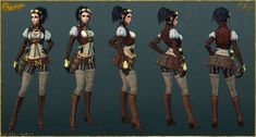 Lady Mechanika: Low Poly by YBourykina on deviantART