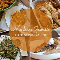 Modern Jewish Thanksgiving Menu: Spatchock Chicken with Mulled Apple Cider Braised Vegetables Pumpkin Challah Stuffing Green Beans with Schmaltz Fried Shallots Chocolate Gelt Pecan Pie