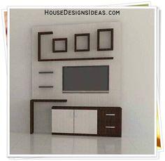 Modern Tv Unit Designs, Modern Tv Wall Units, Living Room Tv Unit Designs, Simple Tv Unit Design, Wall Unit Designs, Tv Cabinet Design, Tv Wall Design, House Design, Tv Unit Decor