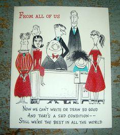 Vintage Cards Hallmark Birthday From All of Us  by TheBackShak, $3.00