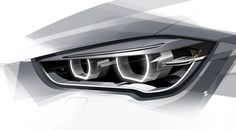 2016 BMW – Headlight Design Sketch Source by zeeshanhakkim Design Autos, Bmw Design, Car Design Sketch, Car Sketch, Vw Gol, Industrial Design Sketch, Car Headlights, Car Drawings, Transportation Design