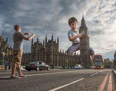 Dad photoshop son into crazy photos using digital manipulation - 4