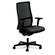 NEW - Ignition Series Mesh Mid-Back Work Chair, Black Fabric Upholstered Seat - IW103NT10 by Hon. $408.71. 292. Breathable mesh back provides added support for all-day seating comfort. 100% polyester fabric-upholstered seat with Nano-Tex for superior stain resistance. Synchro-tilt and adjustable T-arms for a custom fit. Five-star base with casters for easy mobility. Recommended Applications: N/A; Seat/Back Color(s): Black; Features & Functions: 360 Swivel; Back Height Adj...