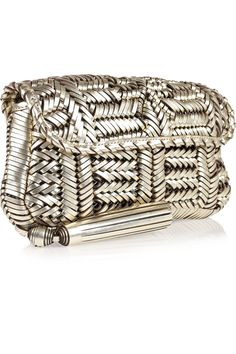 Anya Hindmarch - Rossum woven leather clutch. Gasp.