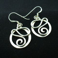 Handmade Sterling Silver Twisted Wire Earrings by forkwhisperer, $28.00