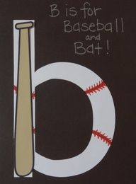 Letter Bb B is for baseball and bat