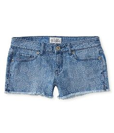 Aeropostale Womens Bandana Print Cut Off Casual Denim Shorts 962 0 ** Check out this great product.