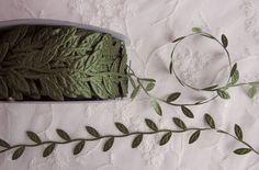 3yds green leaf trim on a vine great for by delightfuldesigner