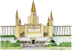 Oakland, California LDS Temple Downloadable Print by Ashley Mae Hoiland