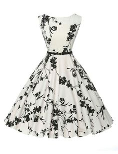 Cheap vestidos plus, Buy Quality dress vestidos directly from China vintage rockabilly dress Suppliers: Women Summer Dress 2017 plus size clothing Audrey hepburn Floral robe Retro Swing Casual Vintage Rockabilly Dresses Vestidos Vintage Tea Dress, Robes Vintage, Vintage Outfits, Vintage Clothing, Vintage Fashion, 50s Vintage, Size Clothing, Vintage Floral, Vintage Style